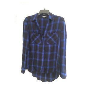 🎀 Express Button Down Plaid Shirt